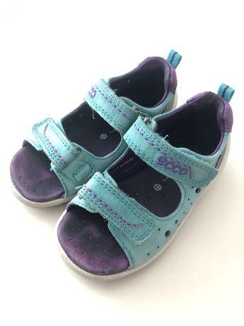 Босоножки ecco, сандали на девочку, 22 размер, 14 см