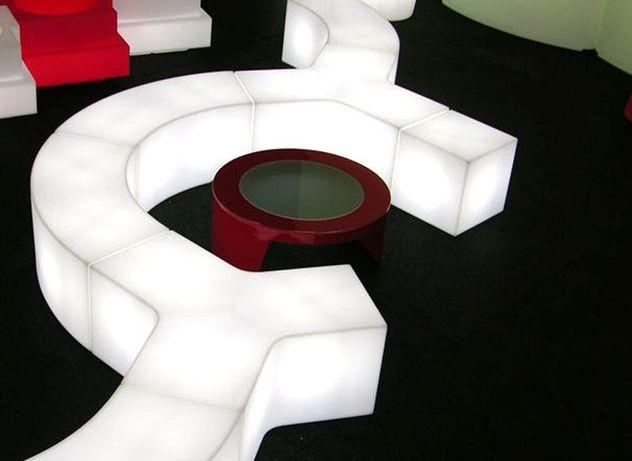 Cubo led quadrado cores