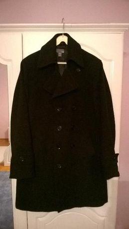 Płaszcz męski H&M wełniany czarny