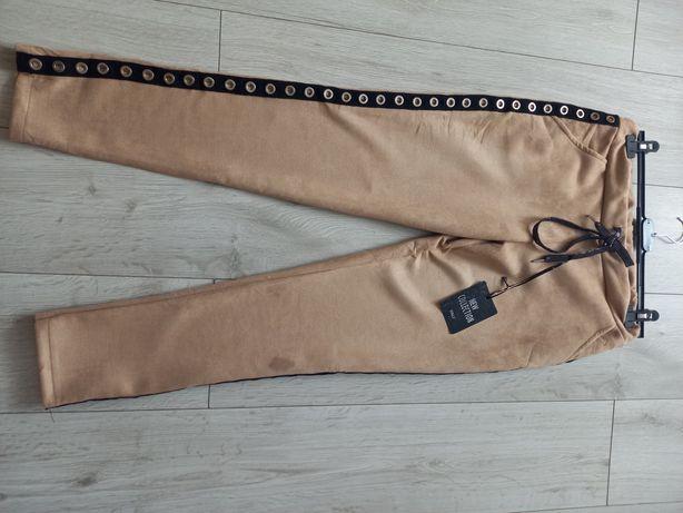Świetne spodnie Eco zamsz