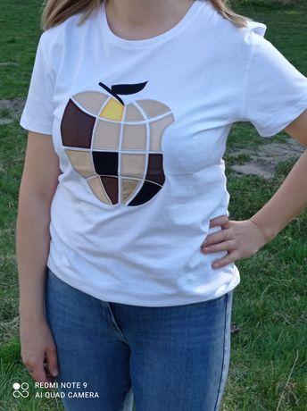 Koszulki damskie z motywem jabłuszka rozmiar S M L XL