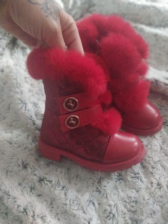 Buty dziecięce trapery dla dziewczynki ocieplane 25