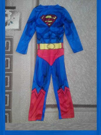 Карнавальный костюм Супермен для мальчика 5 - 6 лет рост 110 - 116