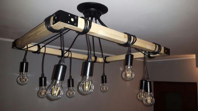 Loft. Żyrandol, lampa wisząca, oświetlenie loftowe.