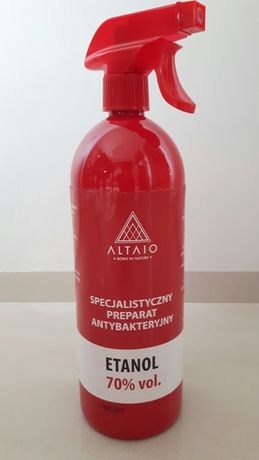 Specjalistyczny płyn antybakteryjny 1L alkohol etanol 70 %