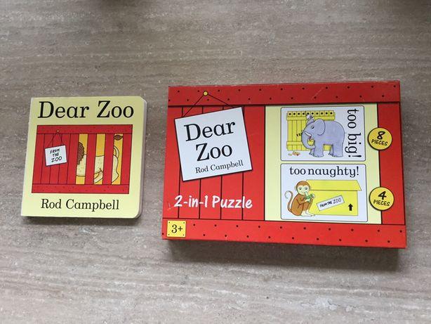 Dear zoo Kochane zoo Rod Campbell  puzzle , ksiazeczka sprzedana