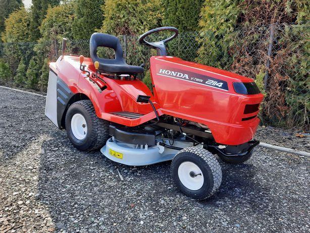 Traktorek Kosiarka Z Koszem Honda 2114 V2 14KM Pompa Manual 2Noże 92cm