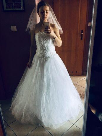 Suknia ślubna 36 princeska księżniczka