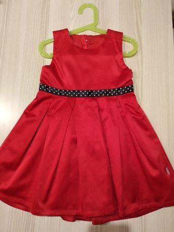 Sukienki - wizytowa czerwona, błyszcząca, super sukienka