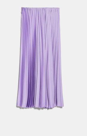 Plisowana spódnica Zara lilac 38 M nowa
