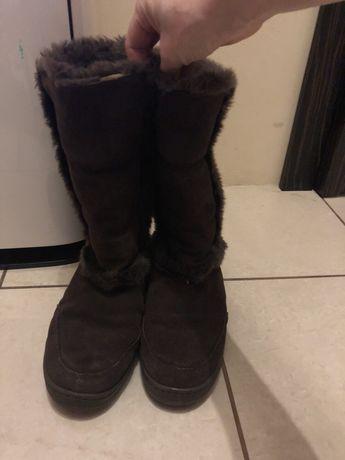 Buty skórzane czekoladowobrązowe UGG rozmiar 8 39