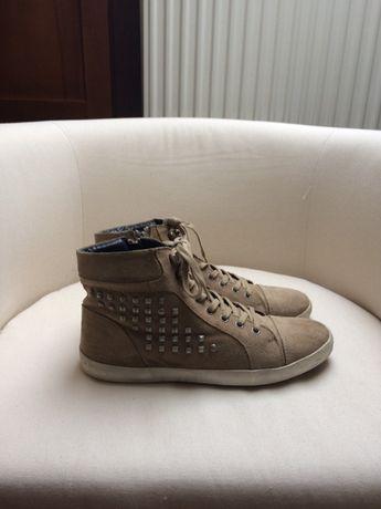 Skórzane buty trampki sneakersy damskie 42,5