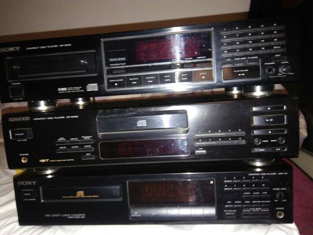 Uszkodzone odtwarzacze CD Sony, Kenwood.
