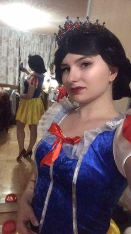 Костюм на хеллоуин halloween секси белоснежка, косплей, парик черный