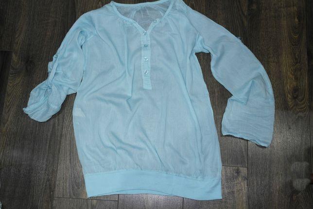 Niebieska przezroczysta włoska bluzka 38