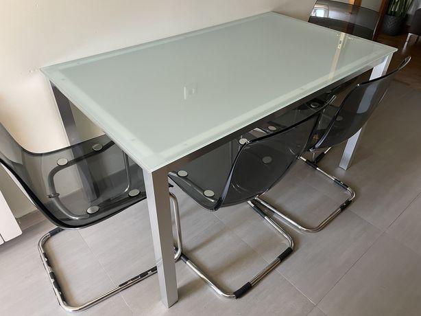 Mesa aluminio/vidro