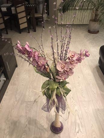 Duży Kwiat w wazonie- ozdoba do np Salonu