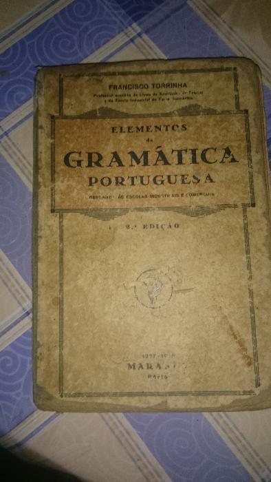 Elementos de Gramática Portuguesa Francisco Torrinha /usado com falha Porto - imagem 1