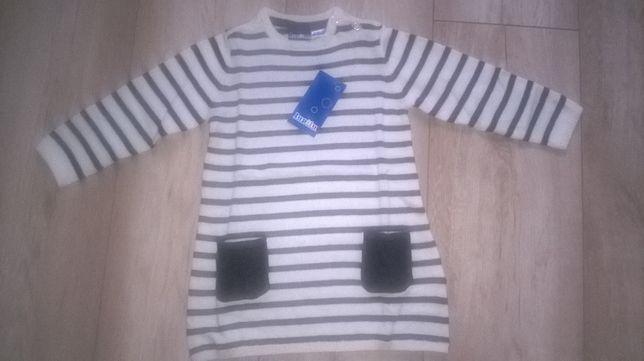 Nowy sweterek tunika Lupilu rozm 74/80