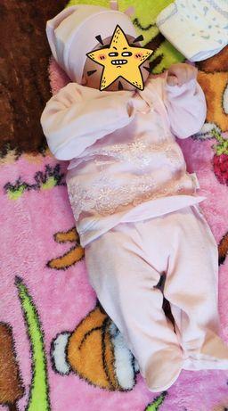 Детский тёплый костюмчик 0-3 месяца