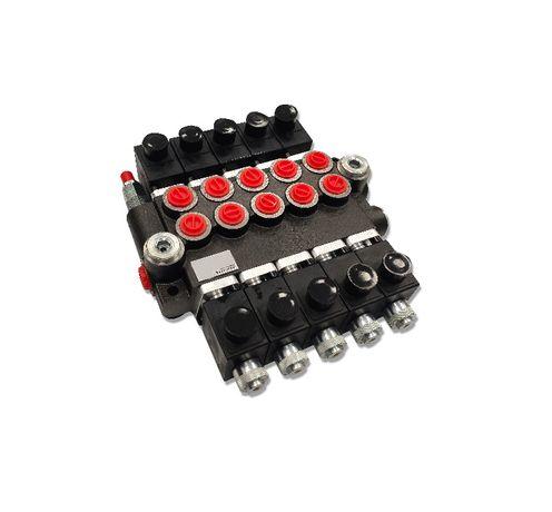 Rozdzielacz hydrauliczny 5 SEK 50L ELEKTRYCZNY 12V