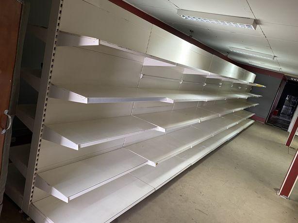 Regały modułowe metalowe GONDOLA dwuskrzydłowe sklepowe Warsztatowe