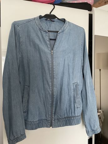Kurteczka cienka bomberka jeans m&s
