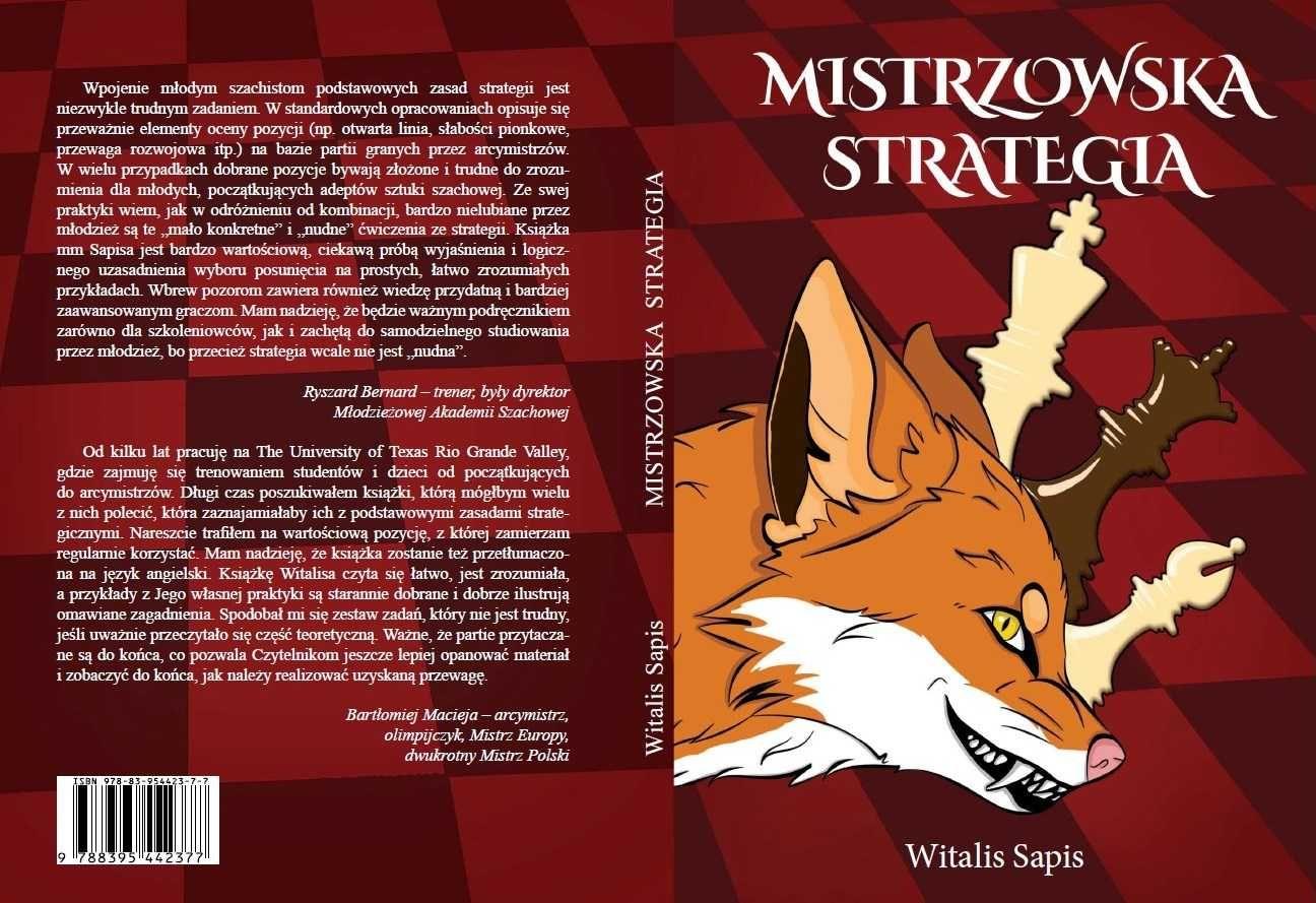 Mistrzowska strategia Witalis Sapis Podręcznik szachowy