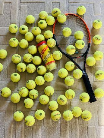 Мячи для большого тенниса 74 шт. Wilson 1 2 3 4 Yonex Babolat Gamma