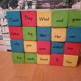 Кубики разноцветные с английскими словами
