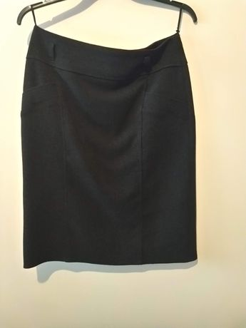 czarna, gruba spódnica