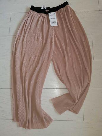 Nowe spodnie Zara roz M pudrowy roz