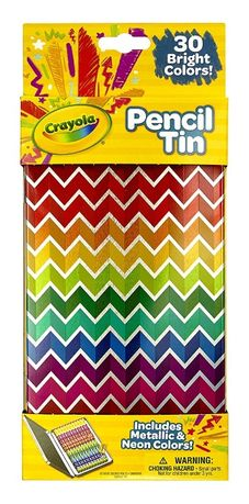 30 цветных карандашей в металической упаковке Crayola Оригинал