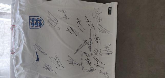 Camisola seleção autografada