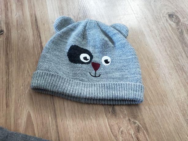 czapka rozmiar 80 9-12 miesięcy szary czapka jesien zima na z