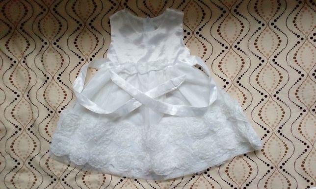 Biała sukienka rozm. 80 (np. na Chrzest)