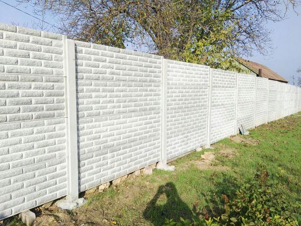 бетонный забор размеры