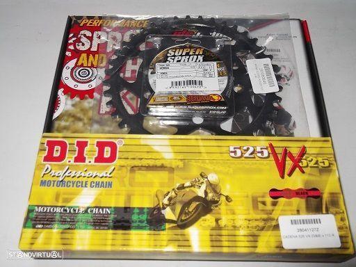 Kit Transmissao corr.DID VX X-Ring Honda CB 750 Seven Fifty de 1992 a 2003