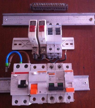 lote de disjuntores para corrente eléctrica