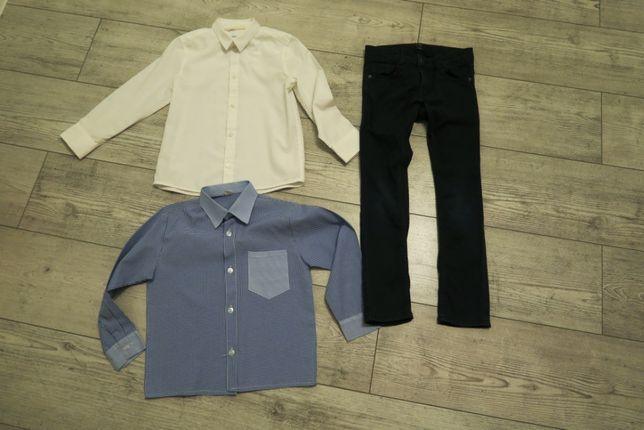 Zestaw dla chłopca elegancki rozmiar 110/116 spodnie koszula
