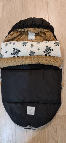 Śpiworek Lala Blanca  3 w 1 do fotelika , gondoli i na sanki