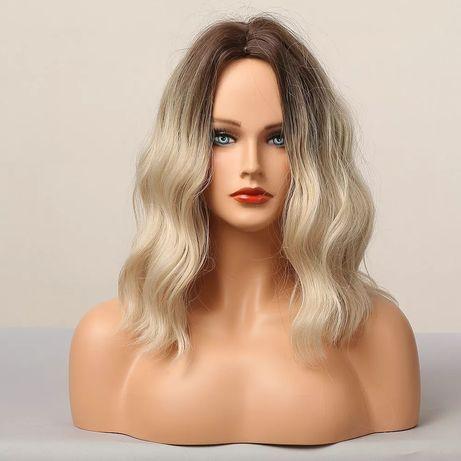 Peruka blond ombre włos falowany jak naturalne