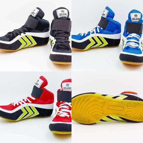 Обувь для борьбы (борцовки) замшевые детские и взрослые размер 33-44