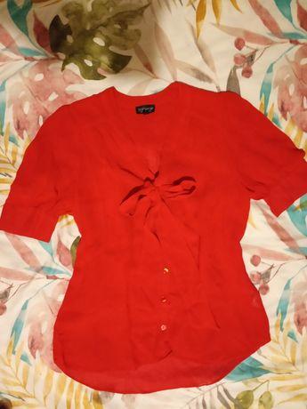 Bluzka czerwona elegancka Top shop 38/M