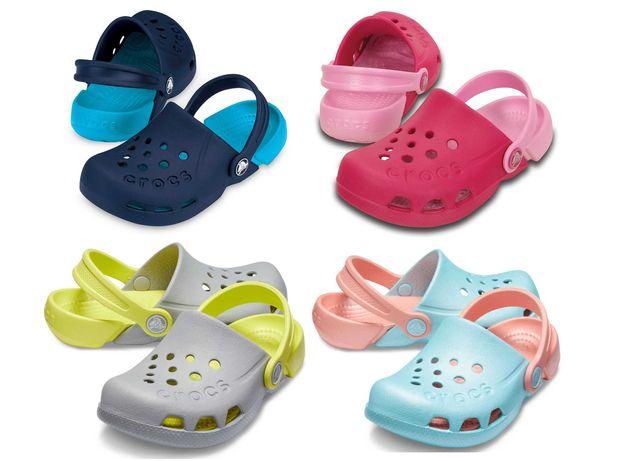 Кроксы оригинал двухцветные сабо Электро Клог Crocs Kids Electro Clog
