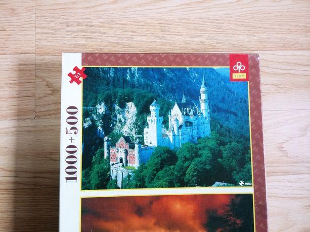 Puzzle Trefl 1000 zamek Ludwika Bawarskiego Niemcy Bawaria Disney