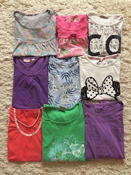 Zestaw koszulek tunik dziewczynka 134