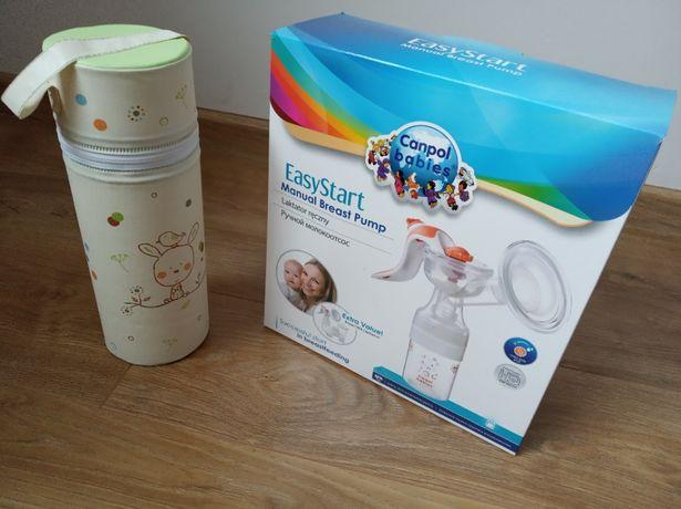 laktator ręczny dwufazowy Canpol Babies + termosik
