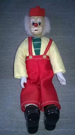 Porcelanowy klaun 39 cm