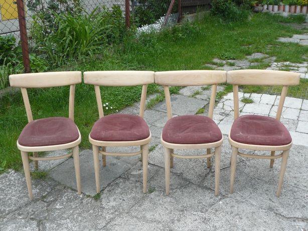 Stare krzesła-krzesło wyściełane.